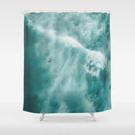 Surfer Surfing Bondi Beach Shower Curtain