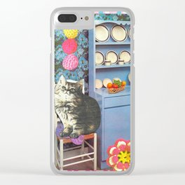 Ball Killer handcut collage Clear iPhone Case