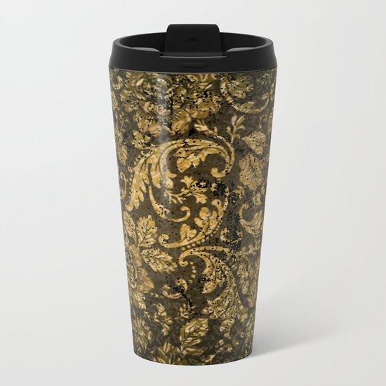 Decorative damask Metal Travel Mug