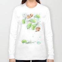 nausicaa Long Sleeve T-shirts featuring The Fox & The Ohmu  by Dani K Design