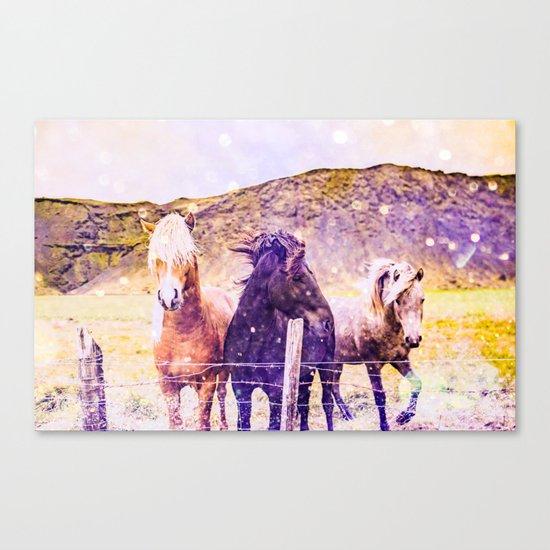 Southwest Horse Ranch Horses Canvas Print