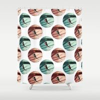 lizard Shower Curtains featuring Lizard by AhaC