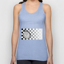 Chequered Flag and Stop Watch Unisex Tank Top