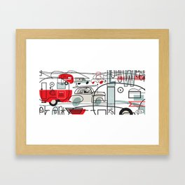 LONG WEEK END Framed Art Print