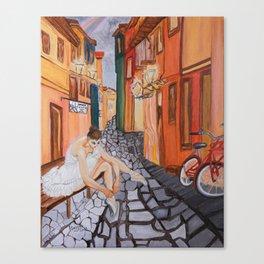 Ballerina in Venice .... Canvas Print