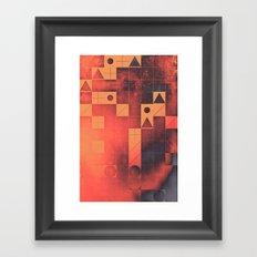 fyrge plyte Framed Art Print