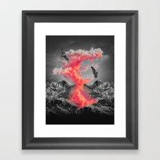 Burn Brighter In the Dark Framed Art Print