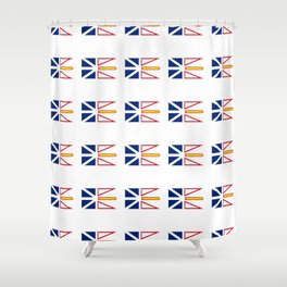 flag of newfoundland and labrador -avalon,newfoundlander,labradorian,john's,conception Shower Curtain