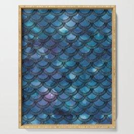 Purple Blue Mermaid Scales Glam #1 #shiny #decor #art #society6 Serving Tray