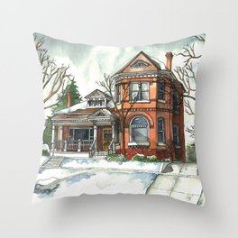 Victorian Eclectic in The Avenues Throw Pillow
