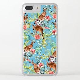 Kangaroos Pattern Clear iPhone Case