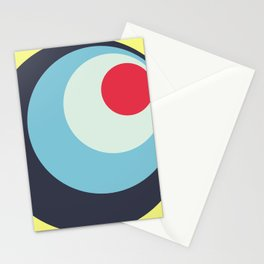 Parvati - Classic Colorful Abstract Minimal Retro 70s Style Dots Design Stationery Cards
