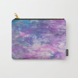 Abstract silk painting in purple and blue Carry-All Pouch