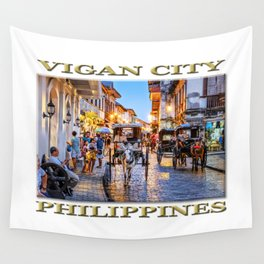 Rush Hour in Vigan City (poster edition) Wall Tapestry