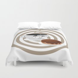cup of thinking Duvet Cover