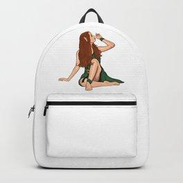 Cartoon young elven girl Backpack