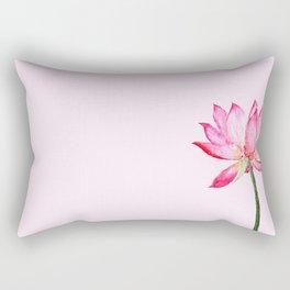 pink lotus flower Rectangular Pillow