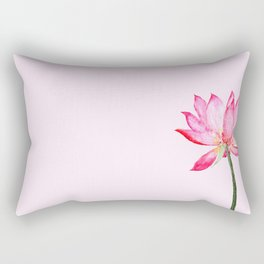 pink lotus flower Rectangular Pillow
