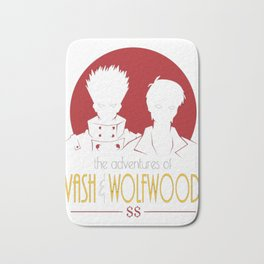 Adventures of Vash and Wolfwood Bath Mat