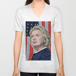 Presidential Candidate Hillary Rodham Clinton Unisex V-Neck