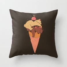 Ice Cream Bears Summer Throw Pillow