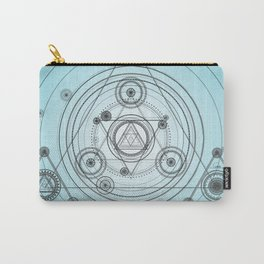Blue geometric circles Carry-All Pouch