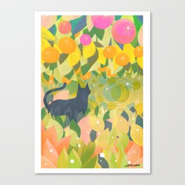 The Cat & The Universe Canvas Print