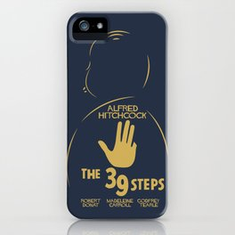 The 39 steps, Alfred Hitchcock, minimal movie poster, english film, b&w alternative affiche, cinema iPhone Case