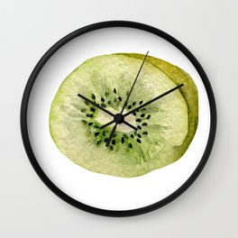 Sweet green kiwi Wall Clock