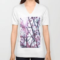 blossom V-neck T-shirts featuring Blossom by Brit