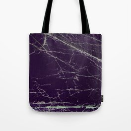 Purple Marble Crease Texture Design Tote Bag