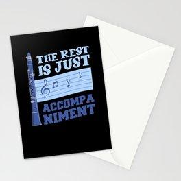 clarinet, clarinet band, clarinet playing Stationery Cards