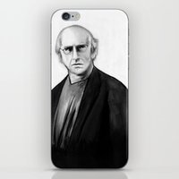larry david iPhone & iPod Skins featuring DARK COMEDIANS: Larry David by Zombie Rust