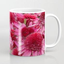 FUCHSIA PINK ECHINACEA GARDEN FLORAL Coffee Mug