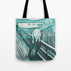 The Scream's Haze (light blue) Tote Bag