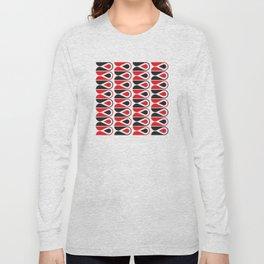 Geometric Pattern #114 (red black loops) Long Sleeve T-shirt