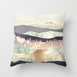 Golden Spring Reflection Throw Pillow