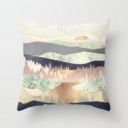 Golden Spring Reflection Throw Pillow