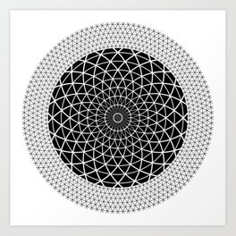 Black and white modern geometric fashion line triangle. Art Print