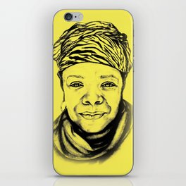 Maya Angelou - (yellow) Sketch to Digital iPhone Skin