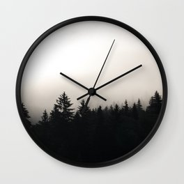 the cloudy pines Wall Clock