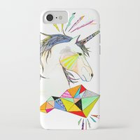 unicorn iPhone & iPod Cases featuring Unicorn by Belén Segarra