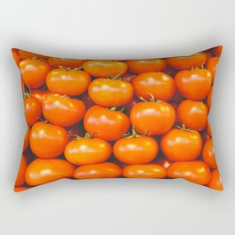 Mid century tomatoes from Italy market Rectangular Pillow