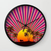 reggae Wall Clocks featuring Sunshine Reggae by A-Devine