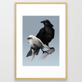 The Dark Side of the Flock Framed Art Print