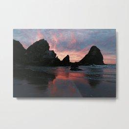 Oregon Beach Sunrise :: Harris State Park Metal Print