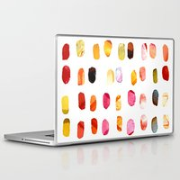 aelwen Laptop & iPad Skins featuring strokes of colors by clemm