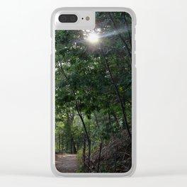 Walden Pond Trail Clear iPhone Case