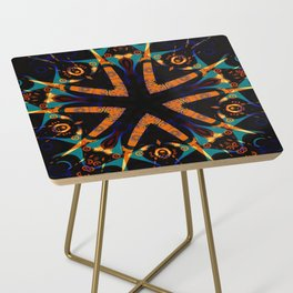 Tribal Geometric Side Table