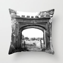 Forest Ruins Throw Pillow